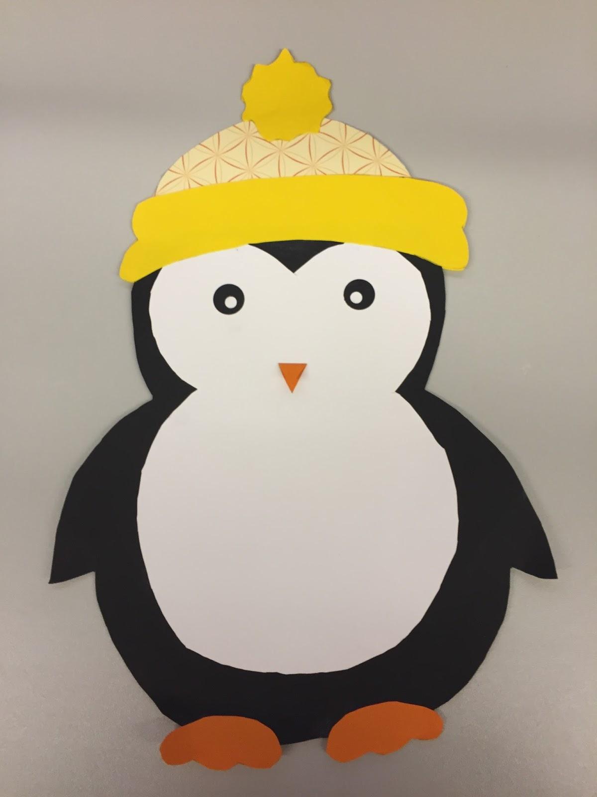 Fensterdeko: Pinguin & Freebie – Klassenkunst verwandt mit Pinguin Bastelvorlage