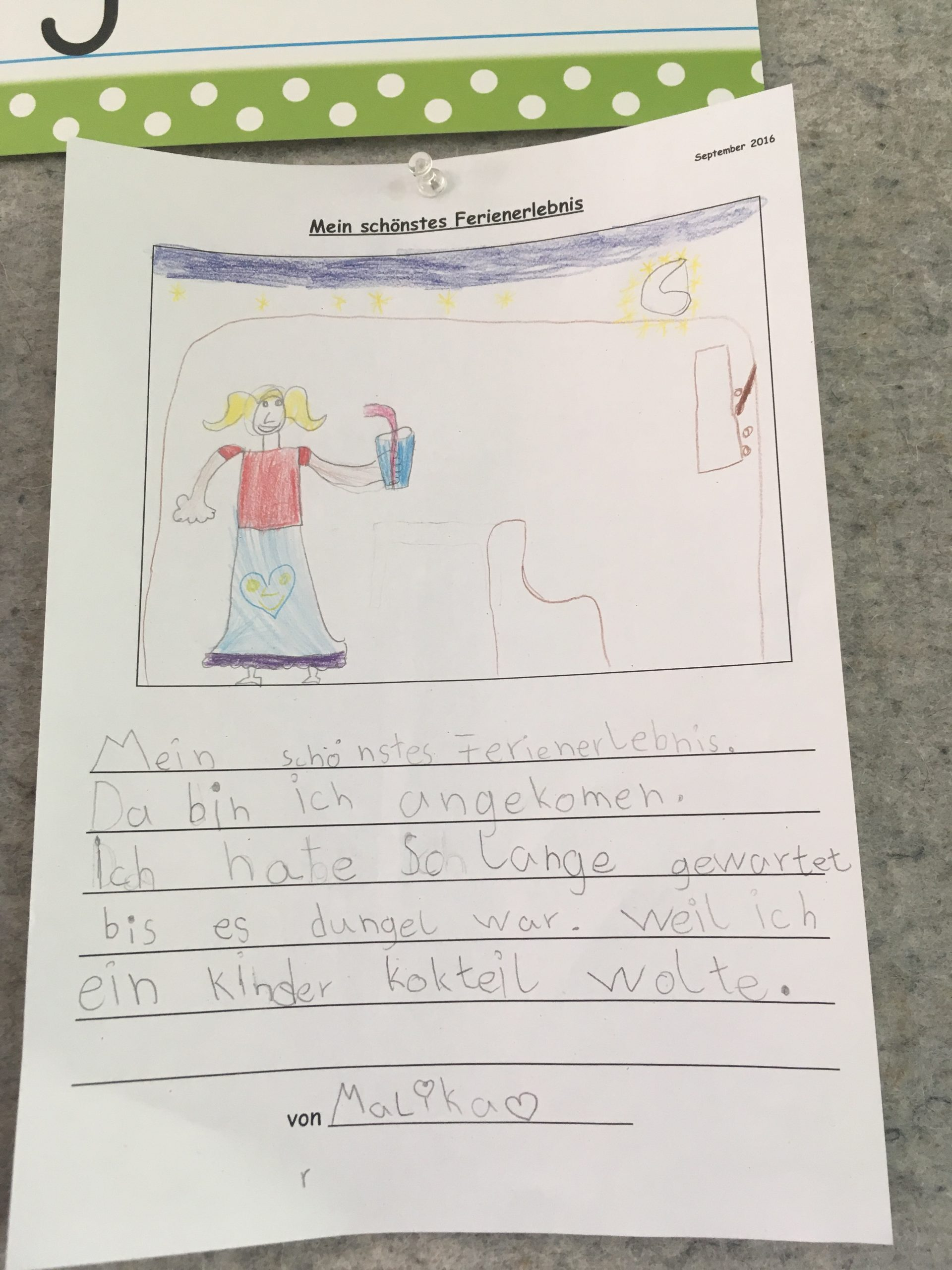 Ferien – Aris Grundschulblog bei Ferienerlebnisse Schreiben Grundschule