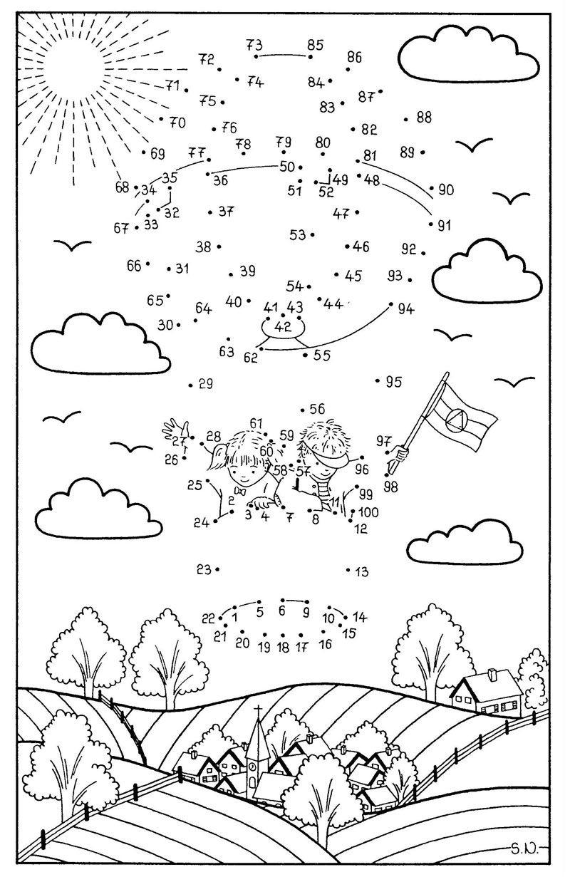Fesselballon … | Malen Nach Zahlen, Malen Nach Zahlen Kinder bestimmt für Malen Nach Zahlen Vorlagen Zum Ausdrucken