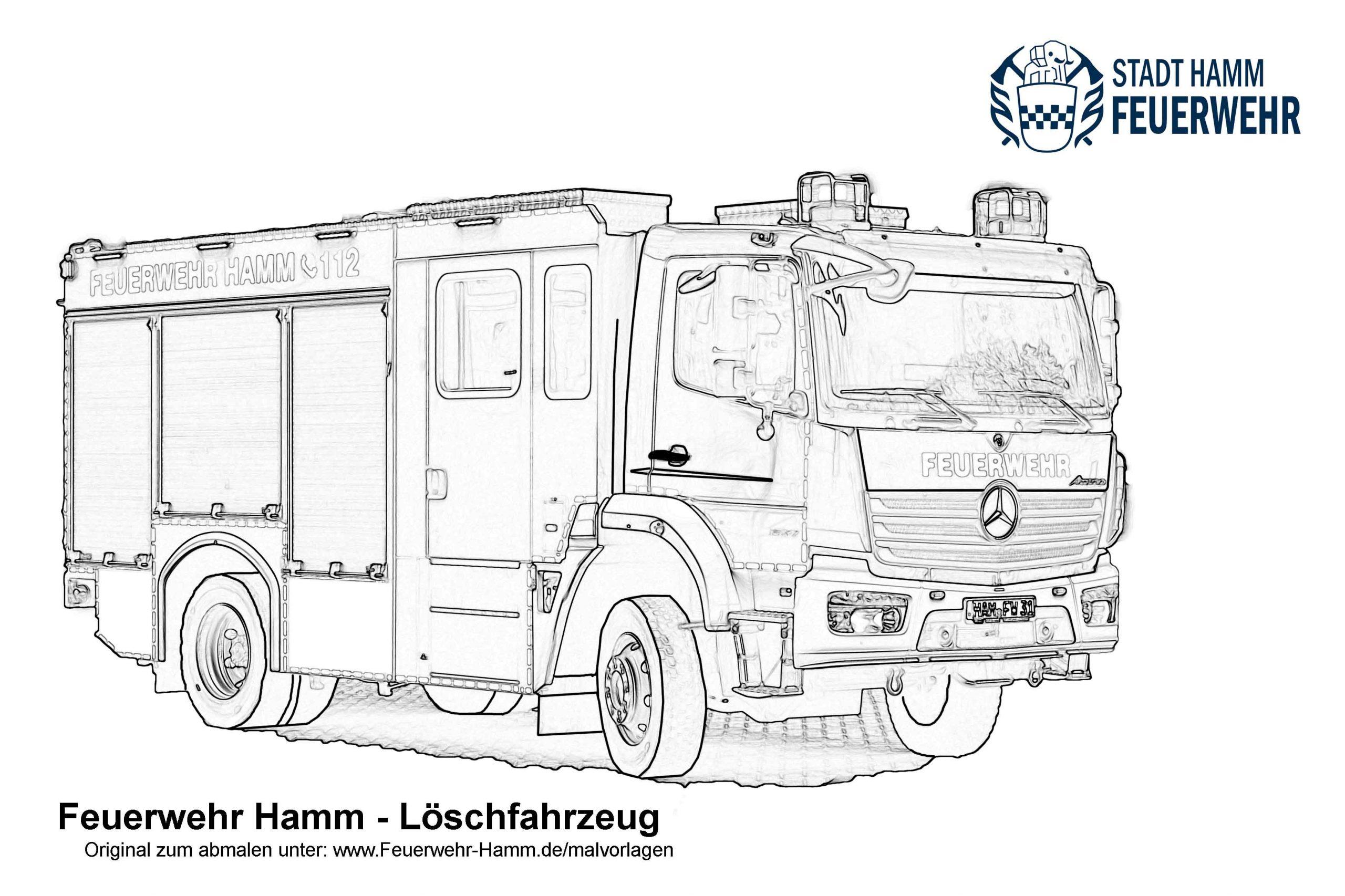 Feuerwehr Hamm | Downloads Für Kinder — Malvorlagen in Ausmalbild Feuerwehr