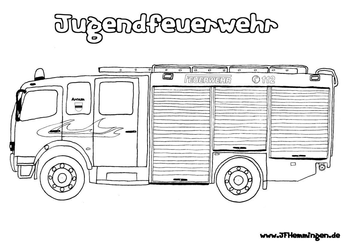 Feuerwehr Malvorlagen   Feuerwehrmann Sam, Ausmalbilder innen Feuerwehrauto Zum Ausmalen