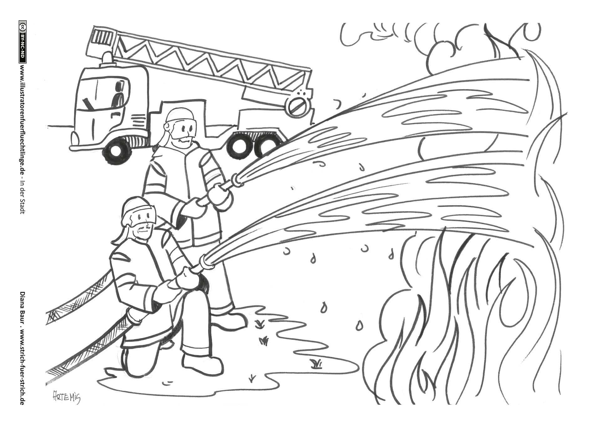 Feuerwehr (Mit Bildern) | Feuerwehr, Kinder Feuerwehr innen Malbuch Feuerwehr