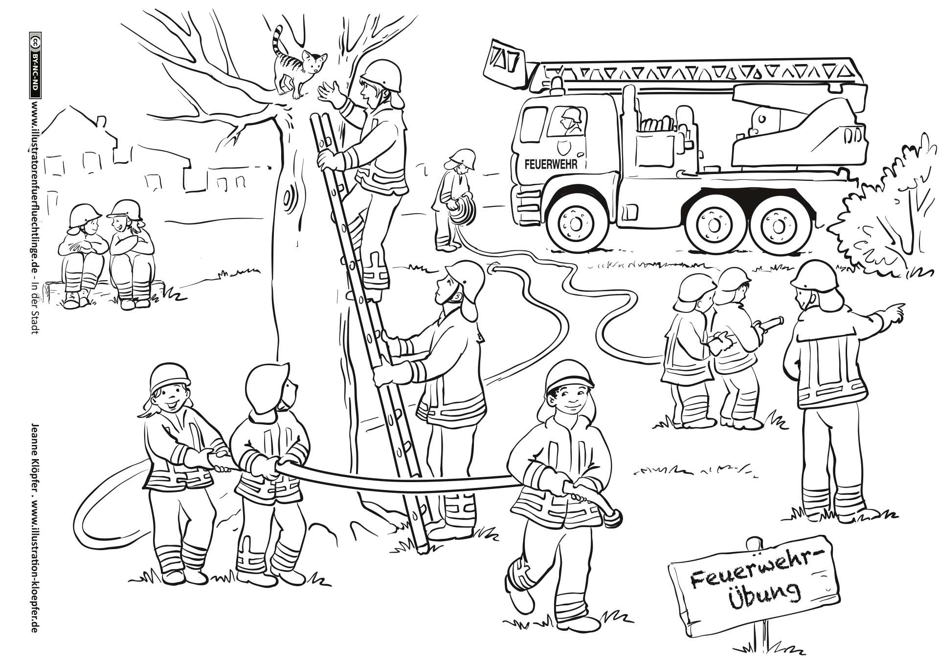 Feuerwehr (Mit Bildern) | Kinder Feuerwehr, Feuerwehr bestimmt für Feuerwehr Ausmalbilder Kindergarten