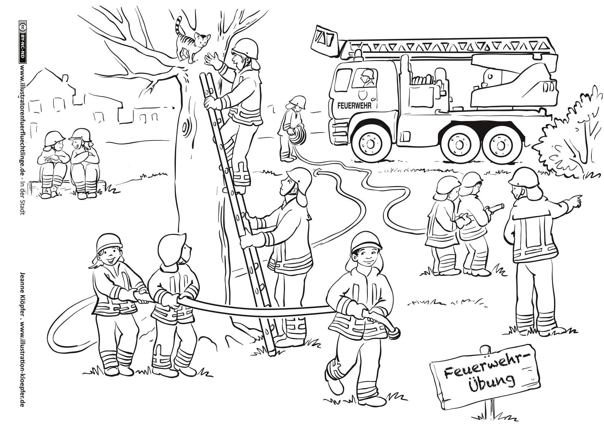 Feuerwehr (Mit Bildern) | Kinder Feuerwehr, Feuerwehr mit Malbuch Feuerwehr