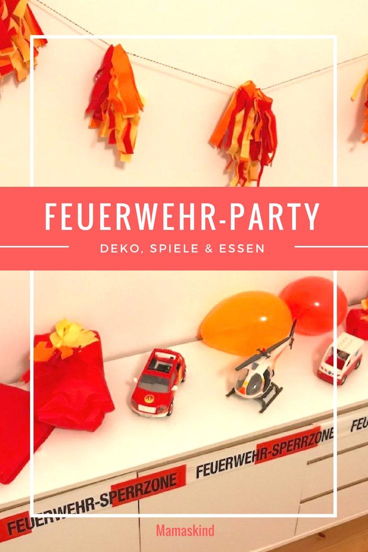 Feuerwehr-Party Zum Kindergeburtstag: Deko, Spiele & Essen bei Thema Feuerwehr Im Kindergarten Basteln