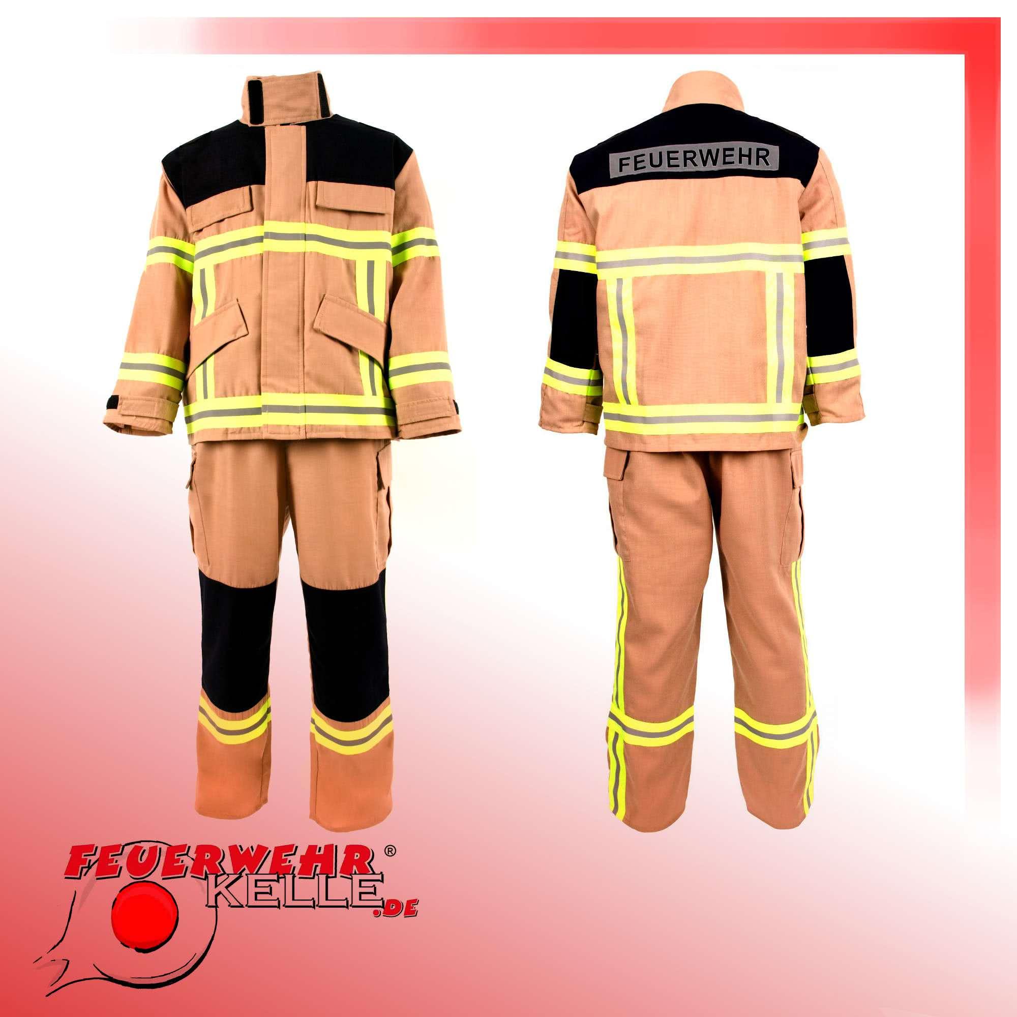 Feuerwehranzug Sandgelb / Beige Für Kinder über Kinder Feuerwehrkleidung