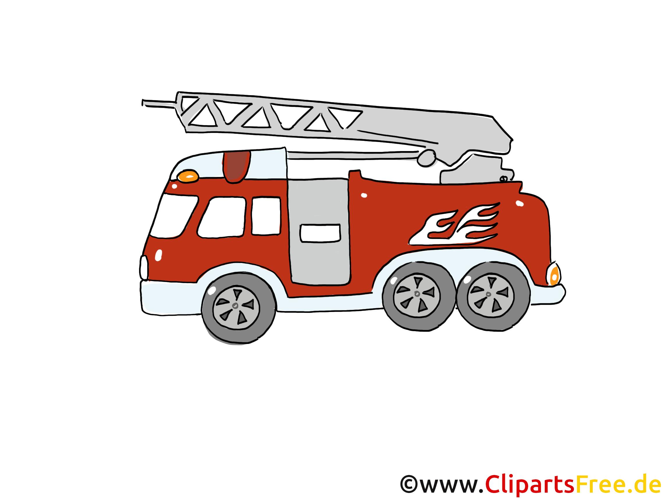 Feuerwehrauto Einsatzfahrzeug Bild, Cartoon, Clipart bei Clipart Feuerwehrauto