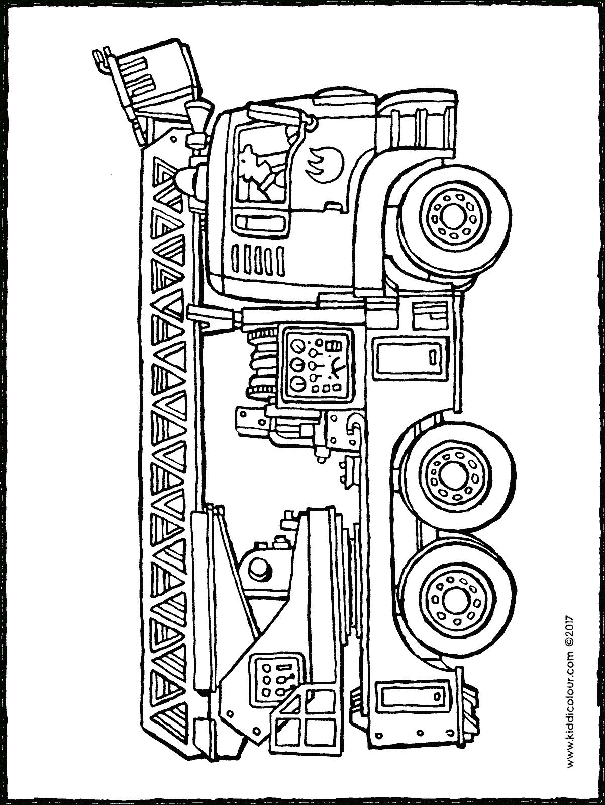 Feuerwehrauto - Kiddimalseite verwandt mit Feuerwehrauto Zum Ausmalen