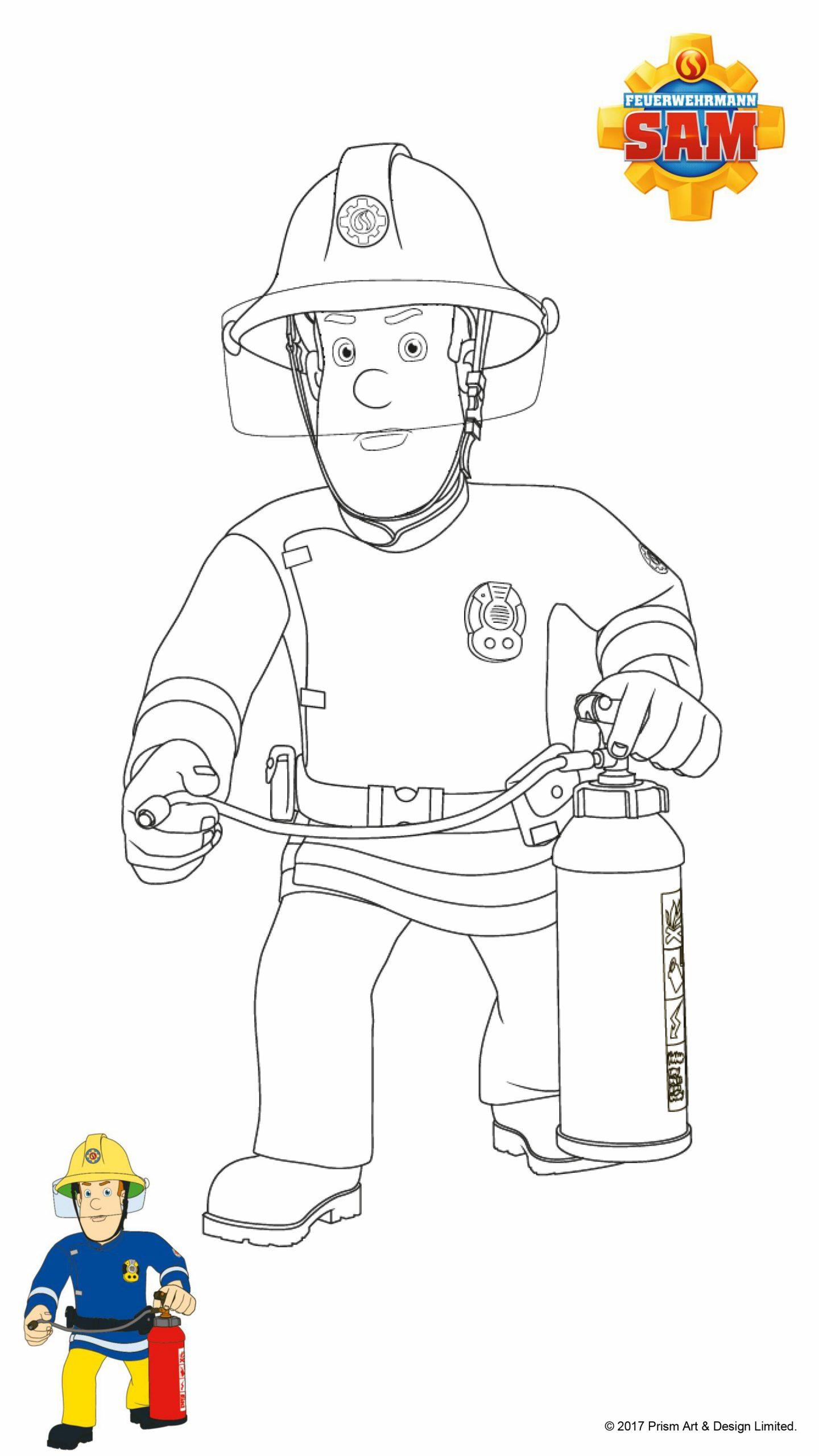 Feuerwehrmann Sam Ausmalbilder   Mytoys Blog für Feuerwehrmann Sam Malvorlage