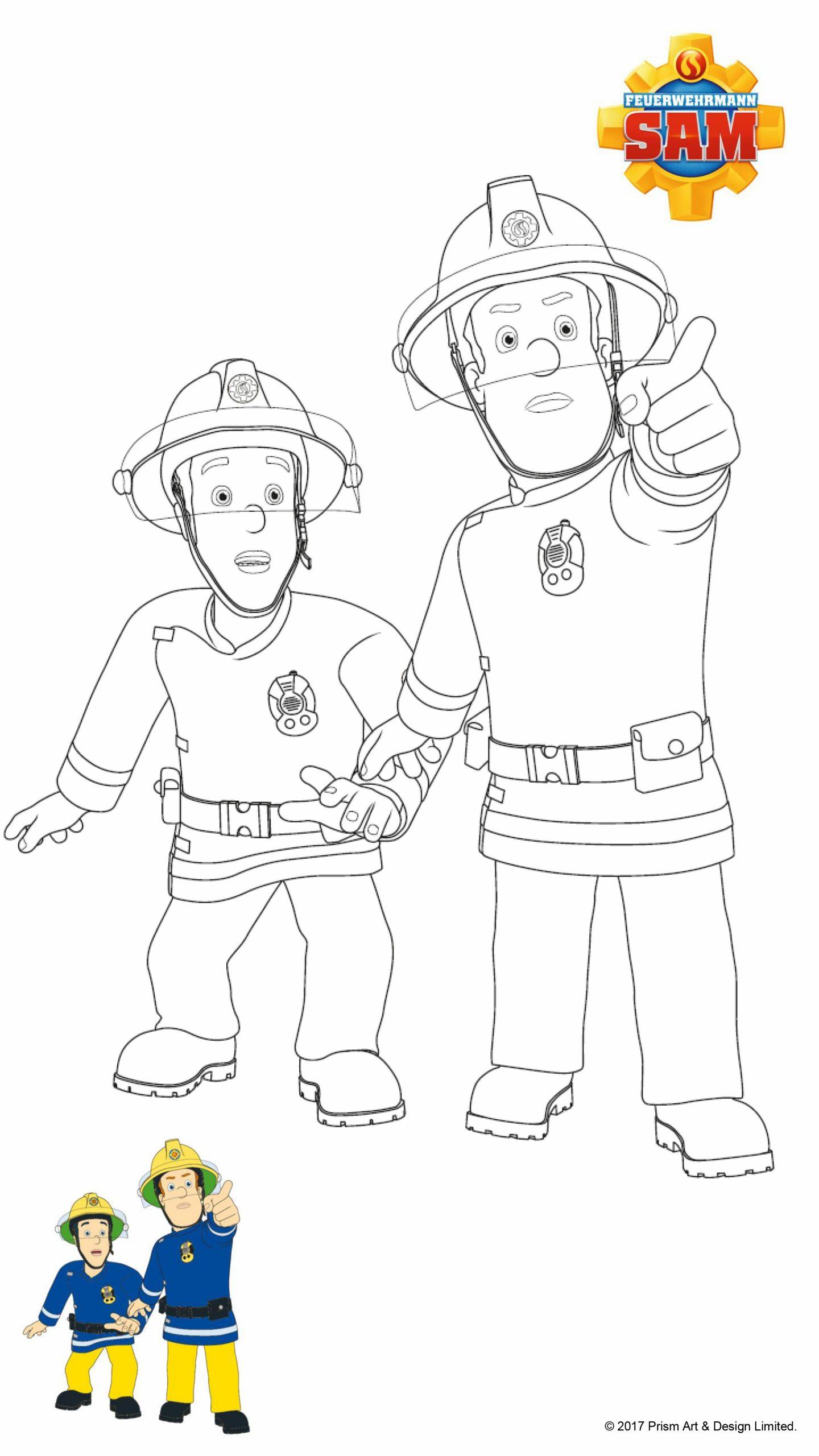 Feuerwehrmann Sam Ausmalbilder   Mytoys Blog verwandt mit Feuerwehrmann Sam Malvorlage