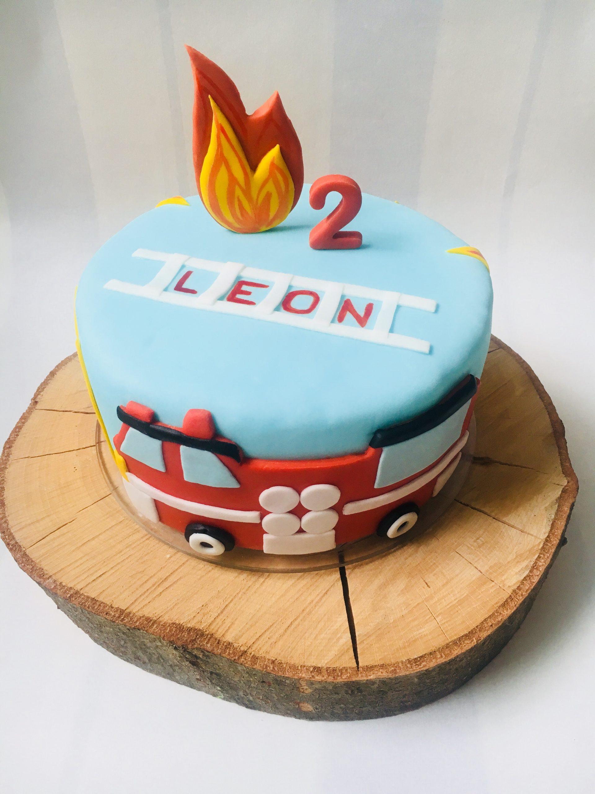 Feuerwehrtorte Zum 2. Geburtstag   Homemade By Kati über Torte Zum 2 Geburtstag