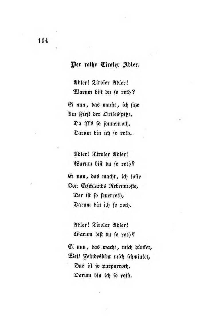File:johann Senn Gedichte Innsbruck 1838 Seite 114 bestimmt für Ich Bin Ich Und Du Bist Du Gedicht