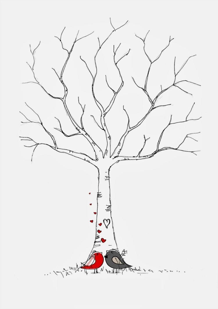 Fingerabdruck Baum Vorlage & Andere Motive Kostenlos Zum bestimmt für Bastelvorlage Baum