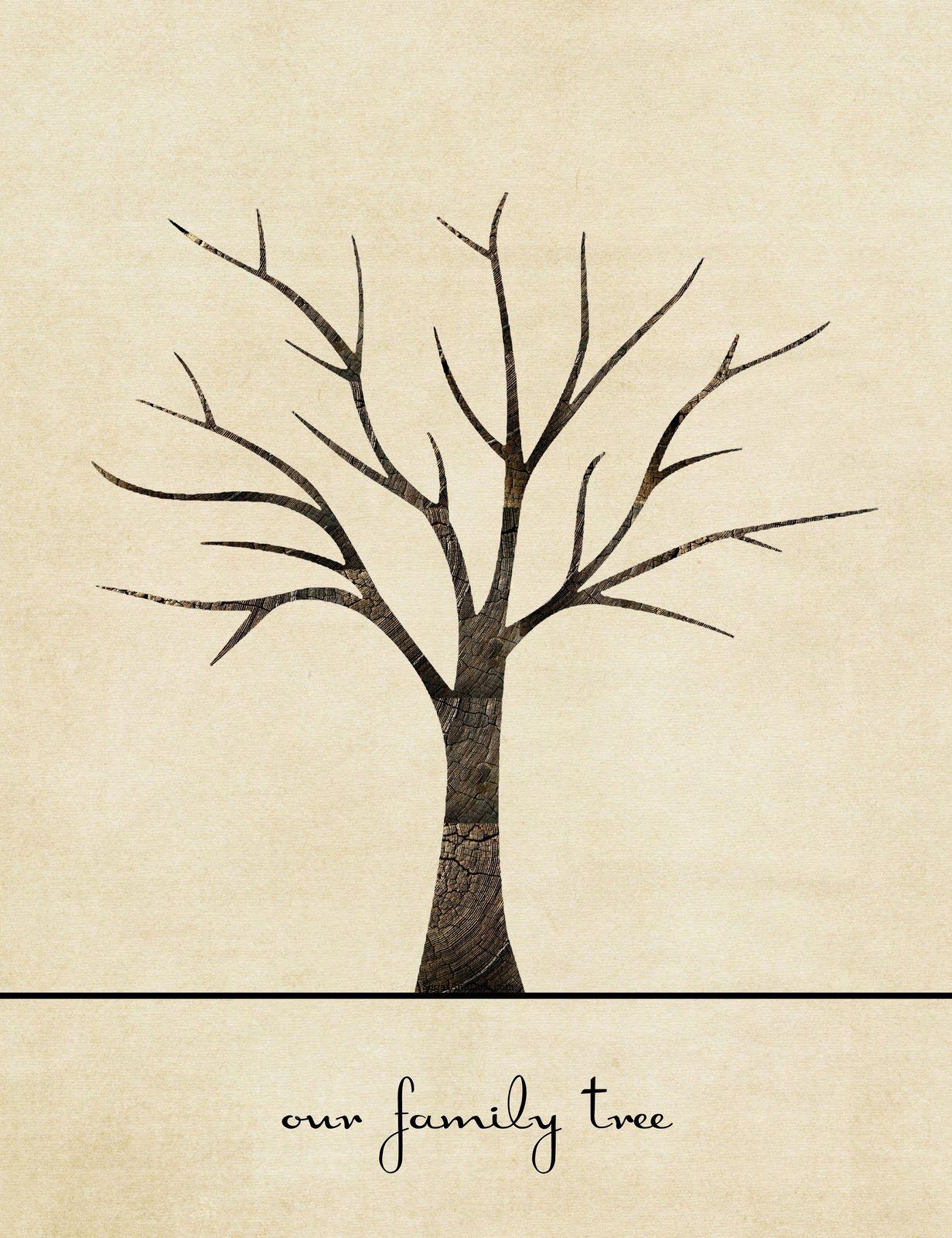 Fingerprint Family Tree {From Sugar & Dots}   Árvore De verwandt mit Bastelvorlage Baum