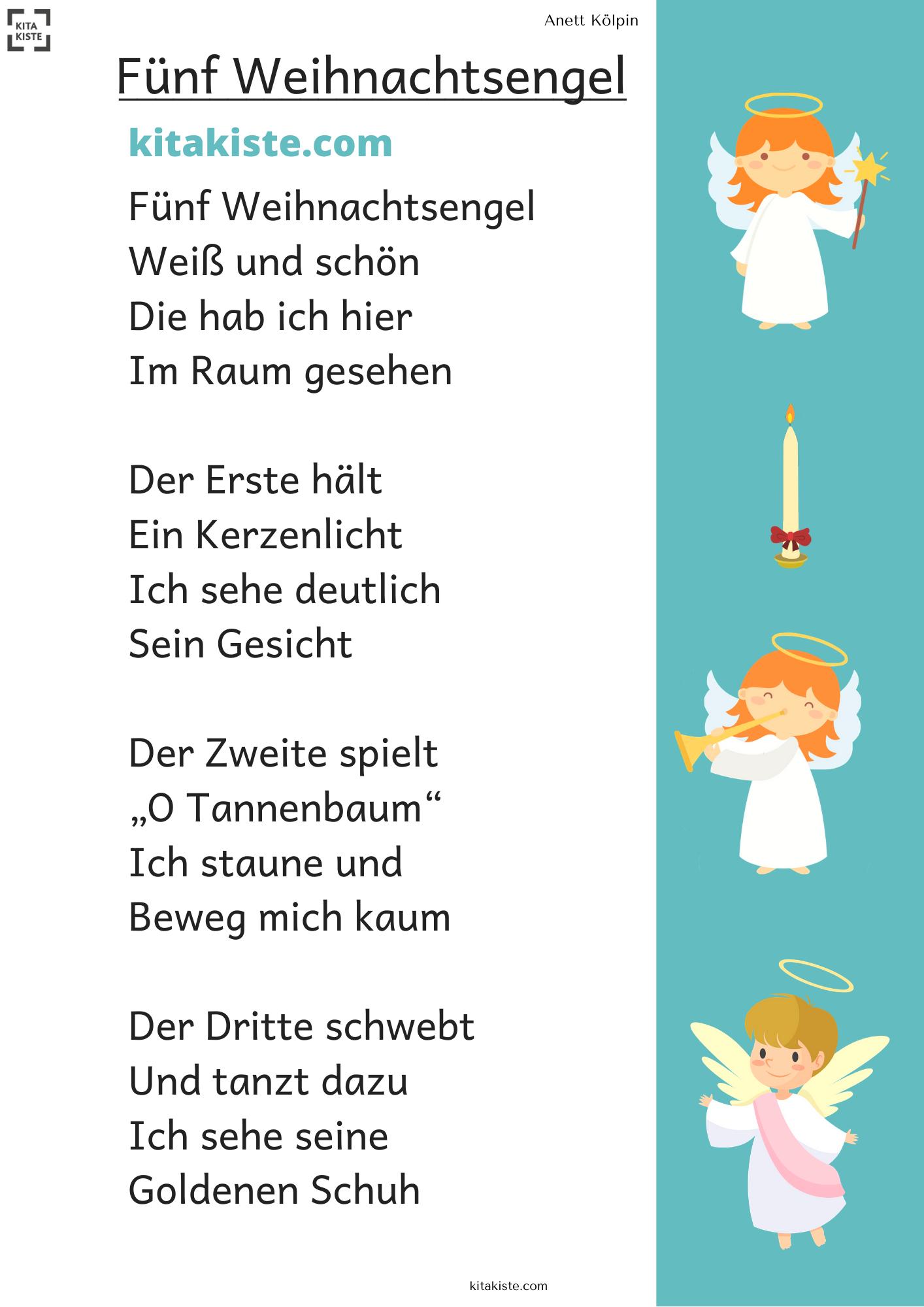 Fingerspiel Mit Feder Oder Engelshaar Am Ende - Für innen Adventsgedicht Für Kindergartenkinder