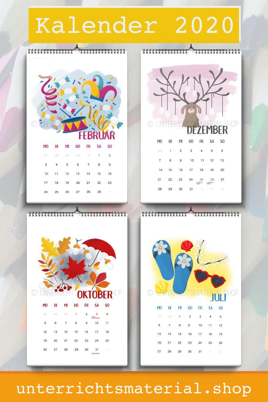 Fingerstempel Kalender 2020   Kalender Für Kinder, Kalender mit Kalender Basteln Mit Kindern
