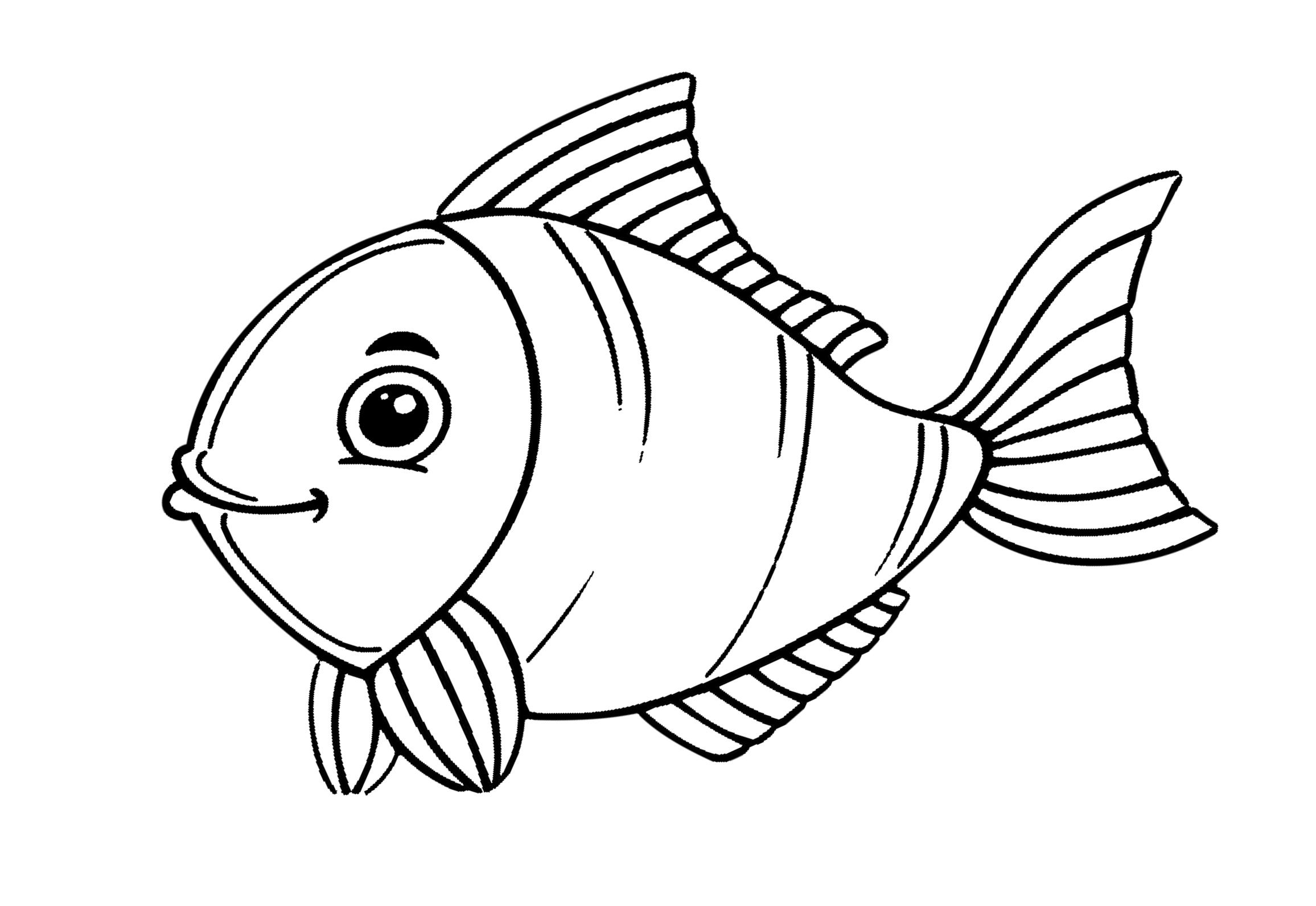 ausmalbild fische  kinderbilderdownload  kinderbilder