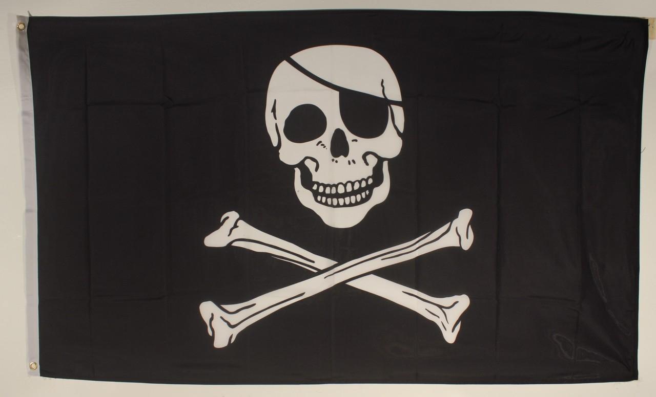 Flagge Fahne Pirat 90X60 Cm Piratenflagge ganzes Piratenflaggen