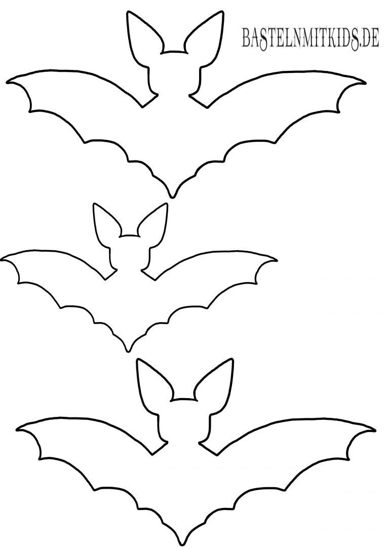 Fledermaus Basteln Mit Vorlage - Basteln Mit Kindern (Mit bestimmt für Fledermaus Schablonen Zum Ausdrucken