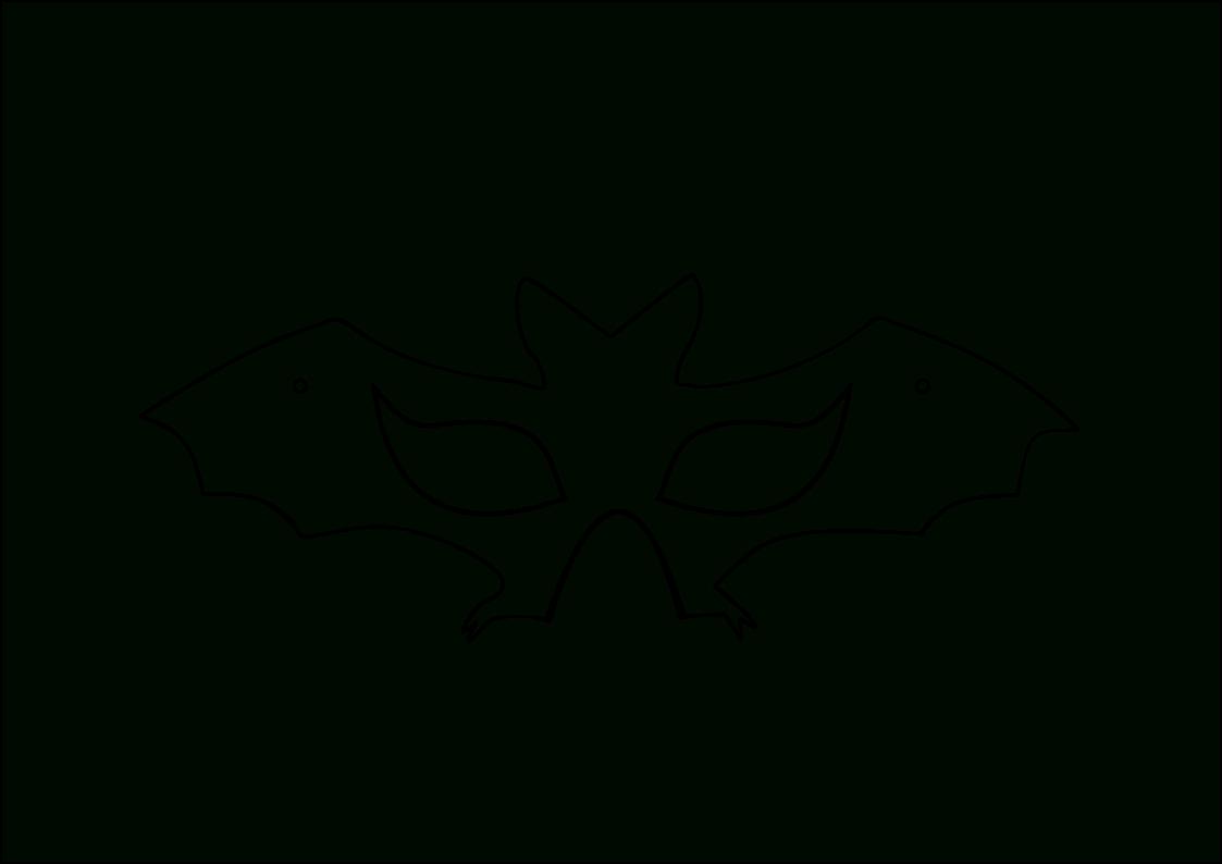 Fledermaus Masken Basteln - Vorlage Drucken - 5 Kostenlose bei Masken Vorlagen Zum Ausdrucken Kostenlos