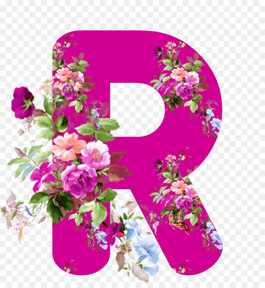 Floral Design-Blumen-Alphabet-Buchstaben-Rose - Blume Png für Blume Mit 6 Buchstaben