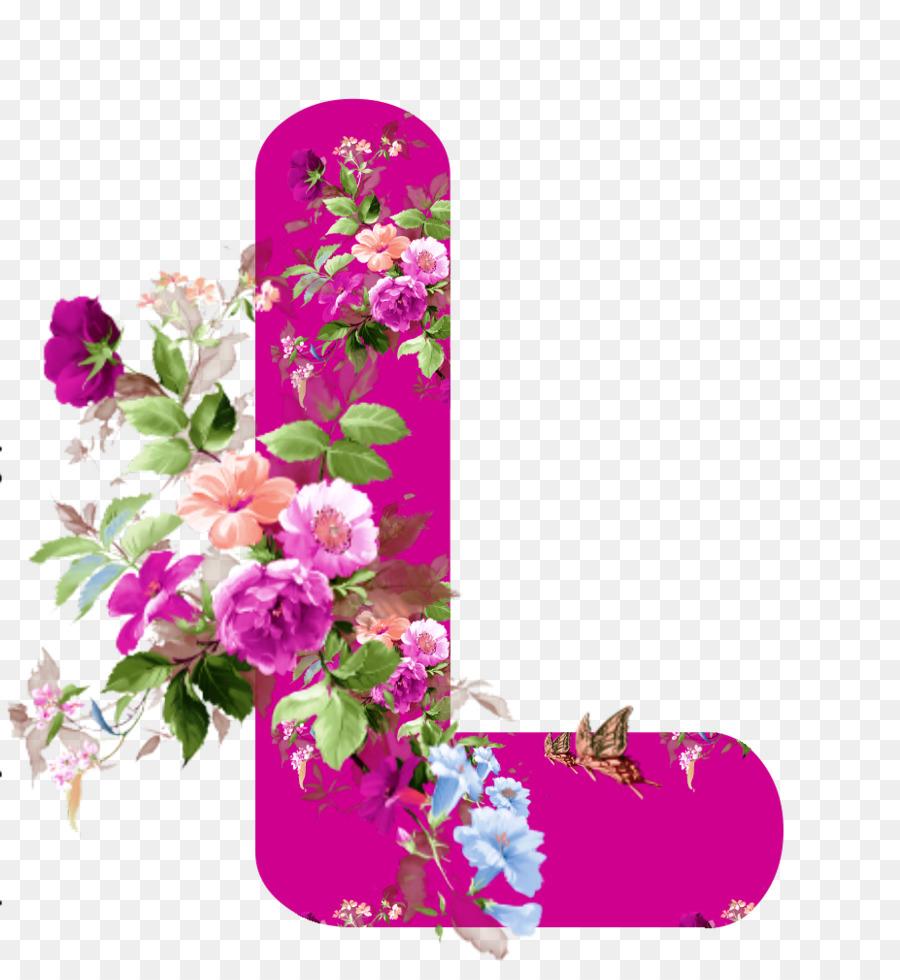 Floral Design-Blumen-Buchstaben-Alphabet - Blume Png mit Blume Mit 6 Buchstaben