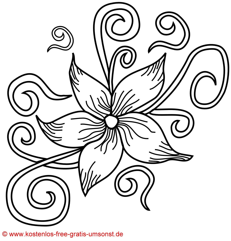 Flower Tattoo Kostenlose Blumen Blüten Tattoo Vorlage innen Blumen Ausmalbilder Gratis