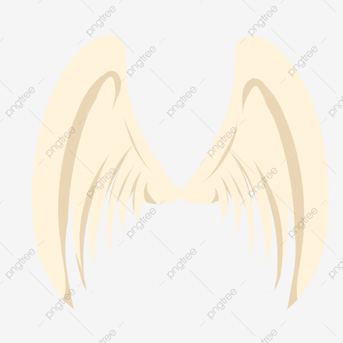 Flügel Entfalten Beige Flügel Hand Gezeichnete Engelsflügel verwandt mit Engelsflügel Gezeichnet