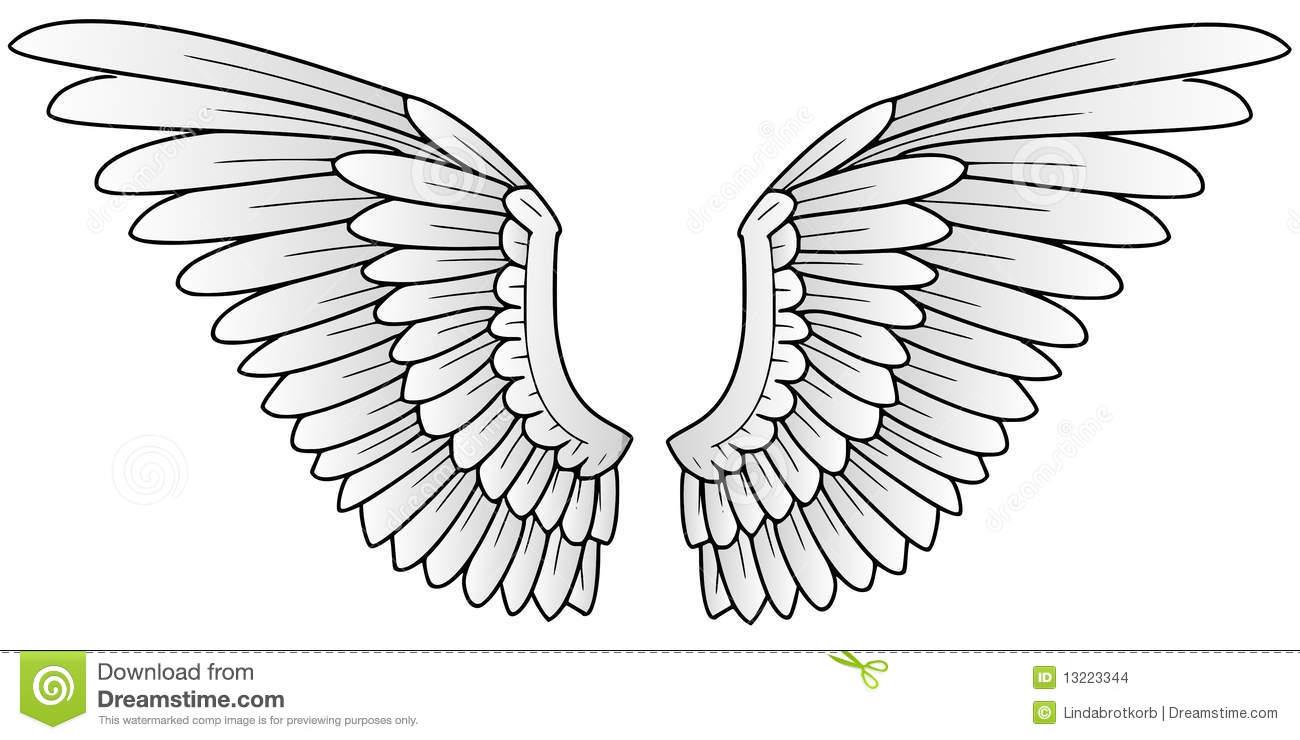 Flügel Stock Abbildung. Illustration Von Ikone, Symbol in Engelsflügel Gezeichnet