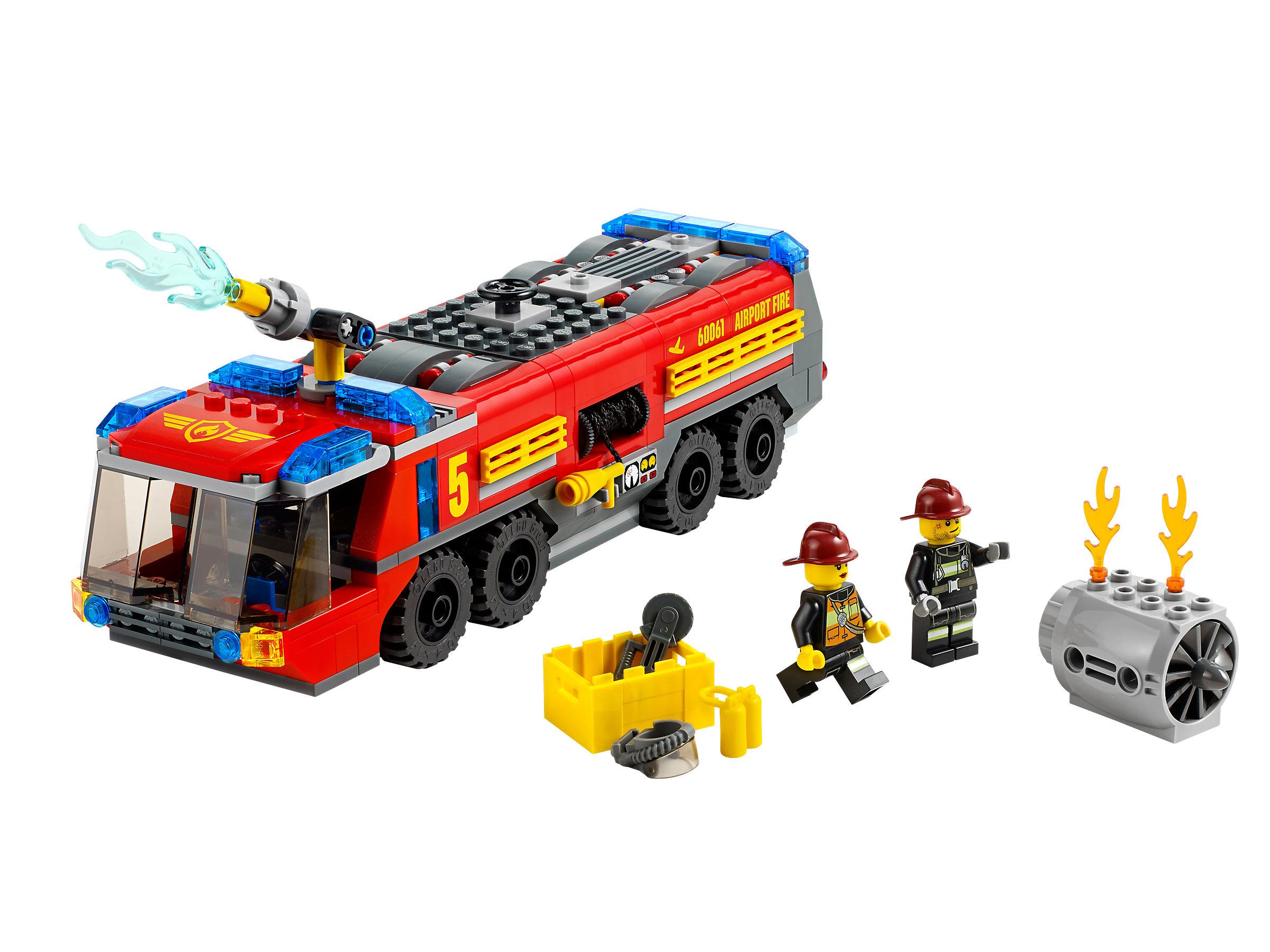Flughafen-Feuerwehrfahrzeug 60061 innen Lego Flughafenfeuerwehr