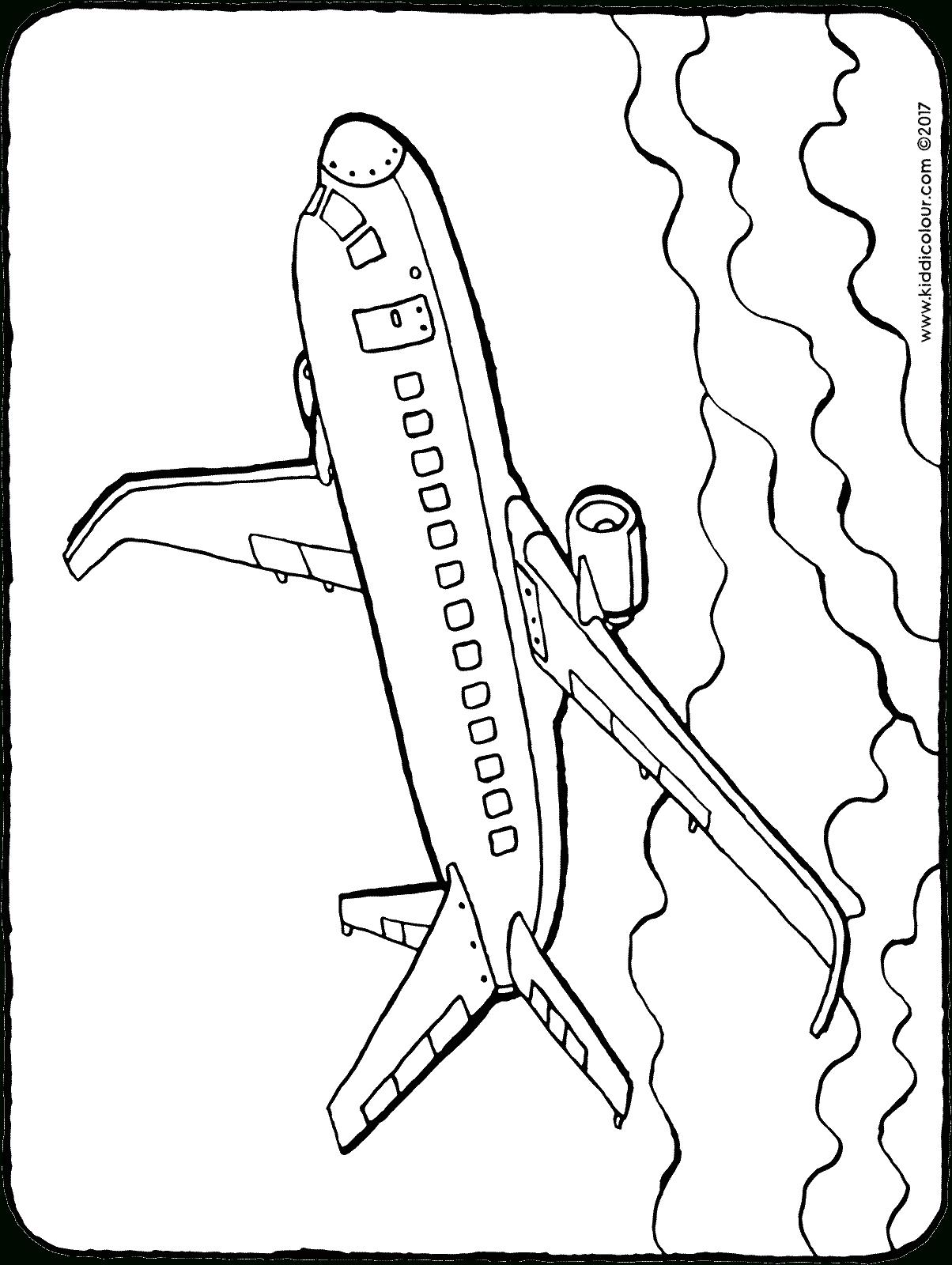 Flugzeug - Kiddimalseite bestimmt für Flugzeug Malvorlagen