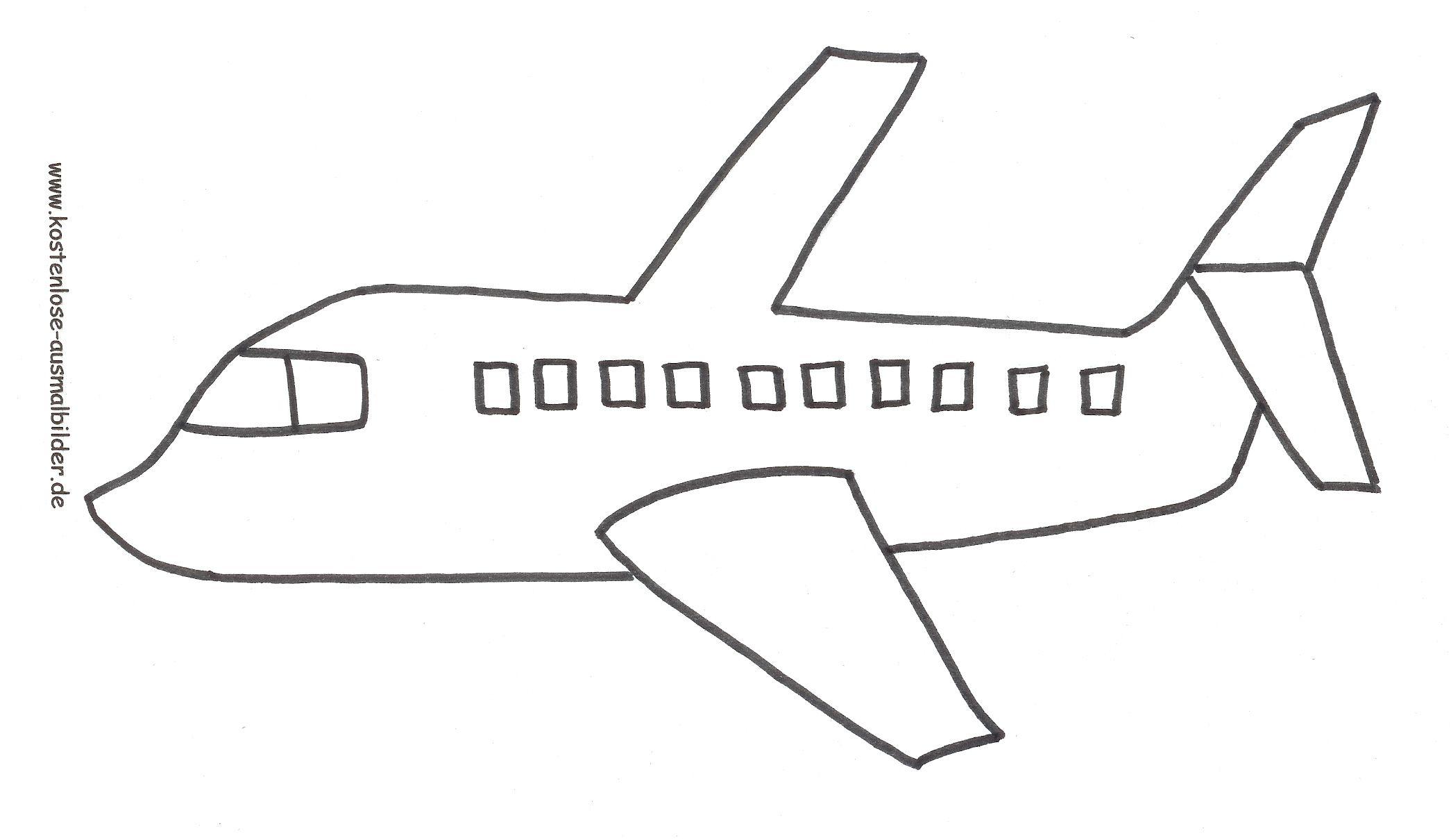 Flugzeug Malvorlage (Mit Bildern) | Flugzeug Ausmalbild mit Ausmalbild Flugzeug