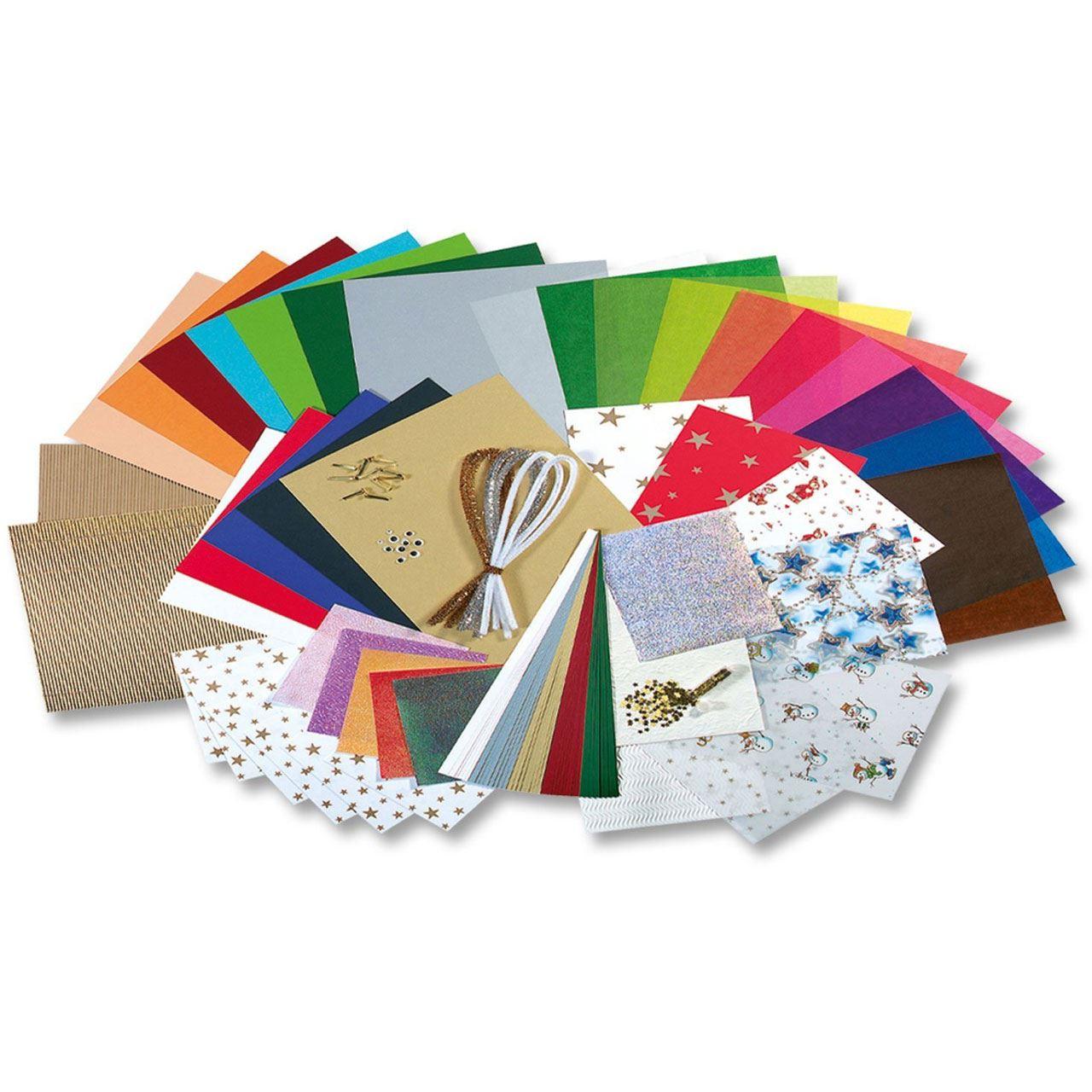 """Folia Bastelpapier-Koffer """"weihnachten Ii"""", 110-Teilig ganzes Bastelpapier Weihnachten"""