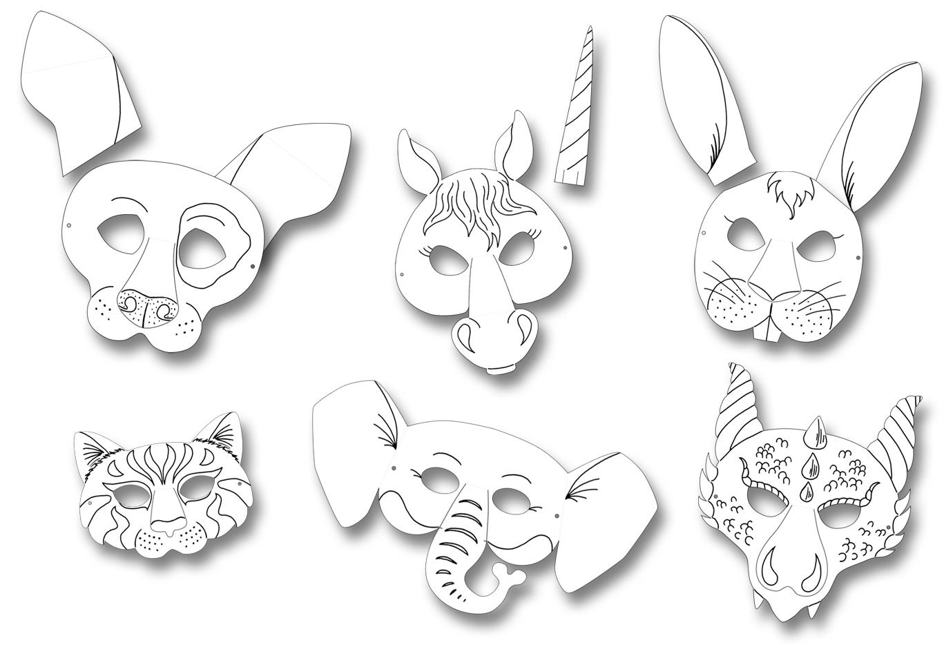 Folia Kindermasken In 6 Motiven Sortiert über Kindermasken Basteln