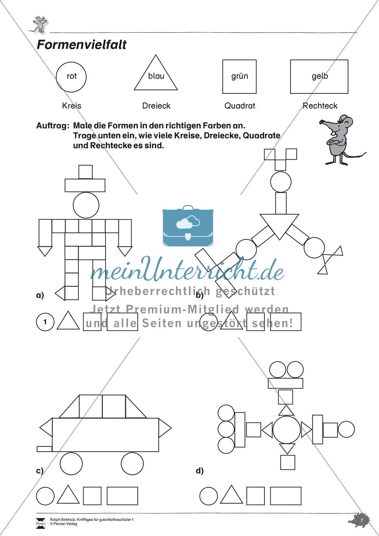 Formen Und Muster - Geometrische Figuren Erkennen Und Zählen verwandt mit Mathematische Formen