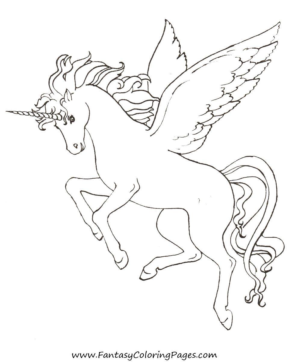 Free-Coloring-Pages-Pegasus-And-Unicorns (Mit Bildern mit Pegasus Ausmalbilder