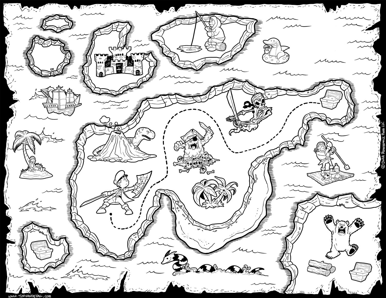Free Pirate Treasure Maps For A Pirate Birthday Party bestimmt für Schatzkarte Malvorlage