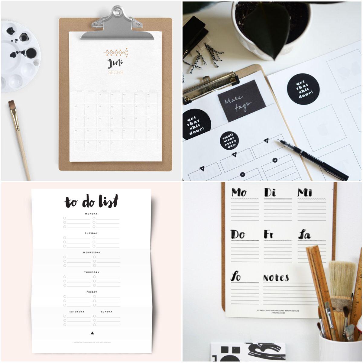 Free Printable // Kostenlose Druckvorlagen Zum Organisieren ganzes Kostenlose Druckvorlagen