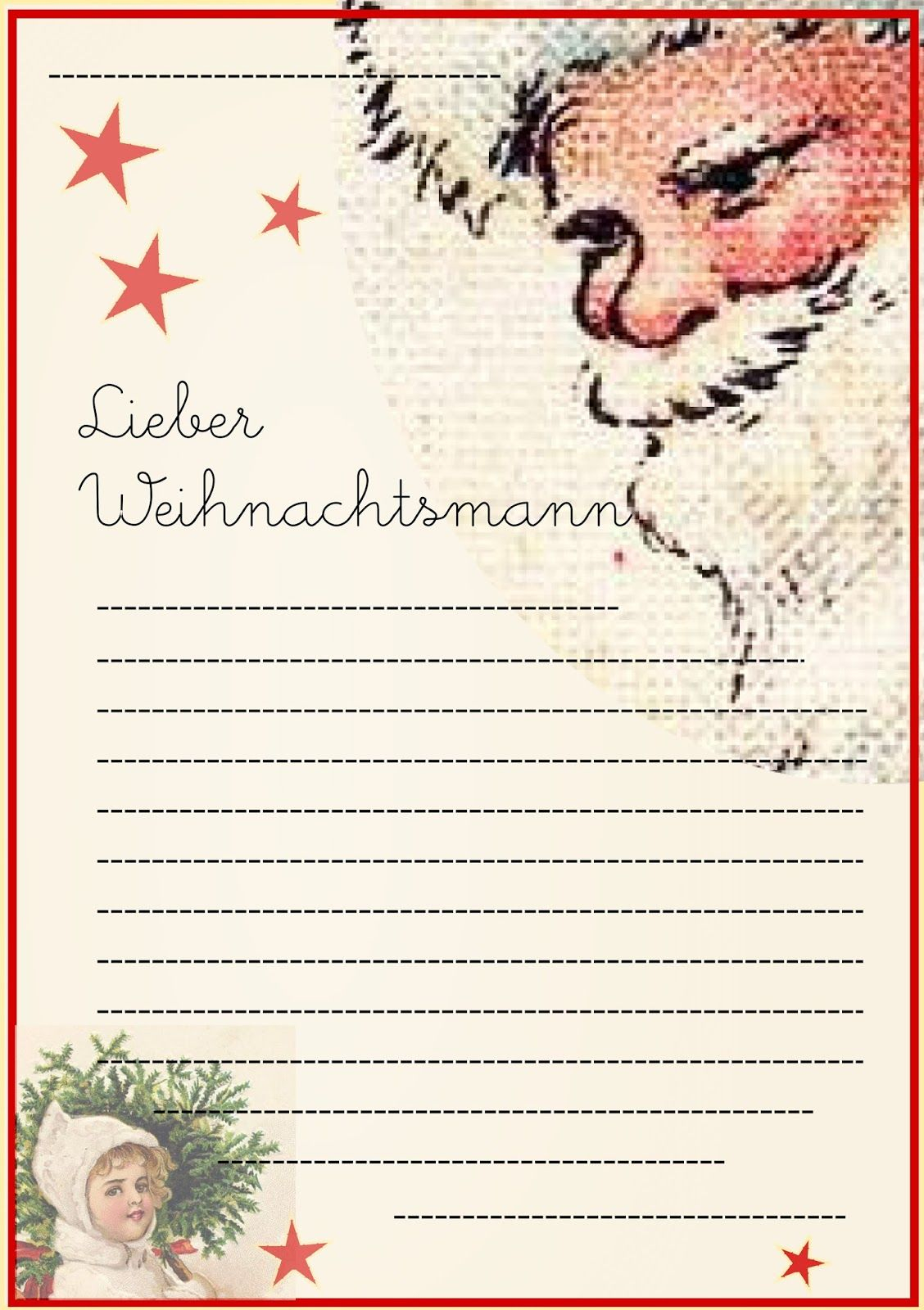 Free Printable Letter To Santa Claus Template For Children verwandt mit Brief Vom Nikolaus Vorlage