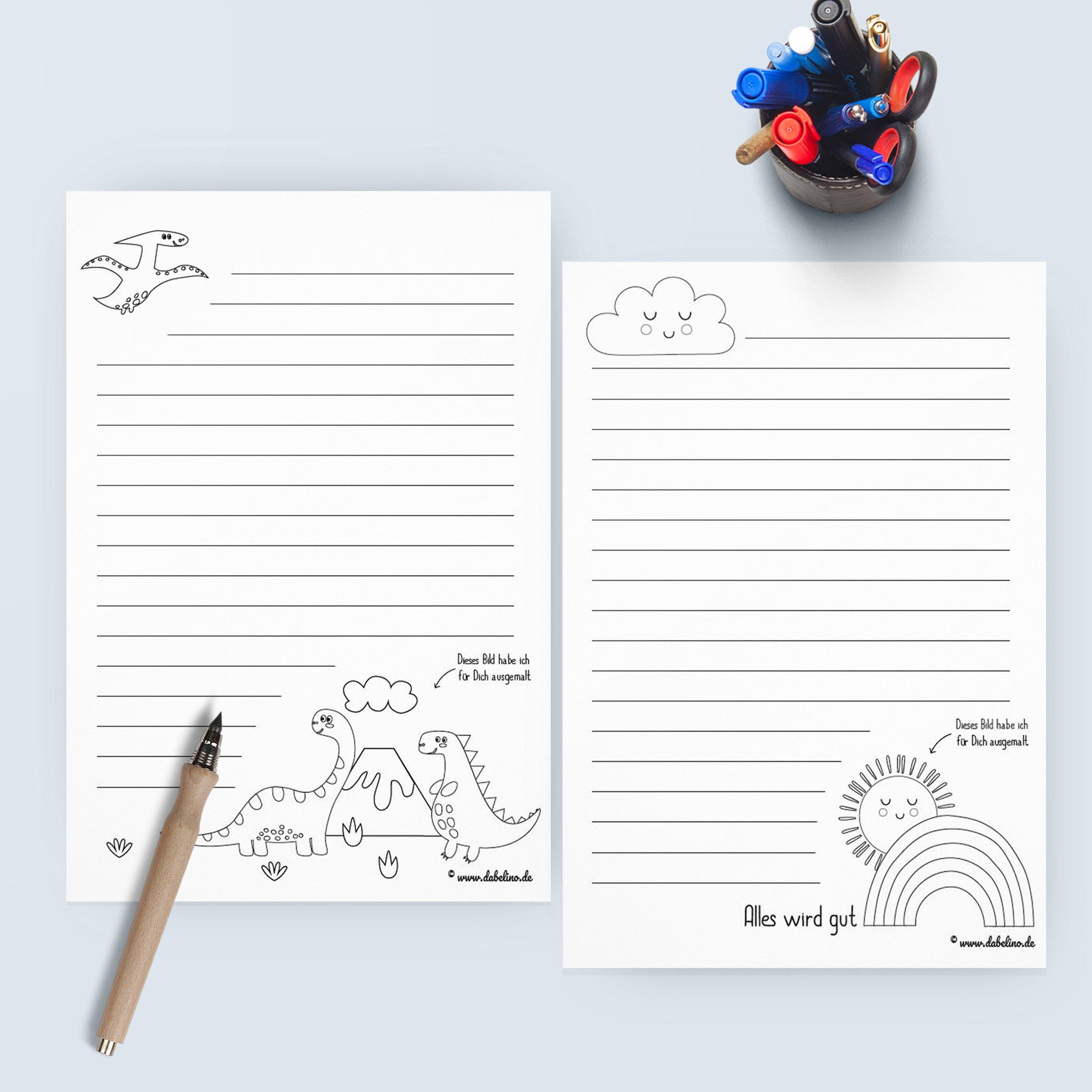 Freebie: Kinder-Briefpapier Vorlagen Kostenlos Als Pdf innen Briefpapier Zum Ausdrucken