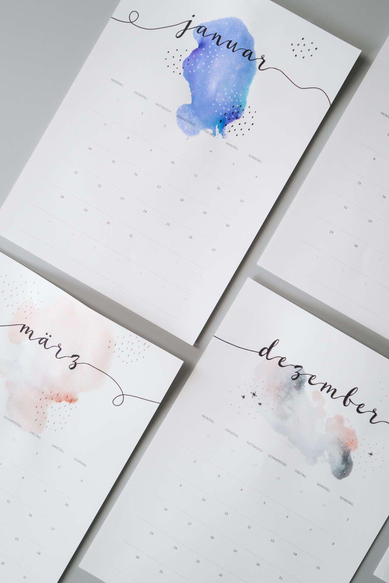 Freebie: Minimalistischer Kalender 2019 | Kalender Gestalten verwandt mit Terminkalender 2017 Selbst Gestalten