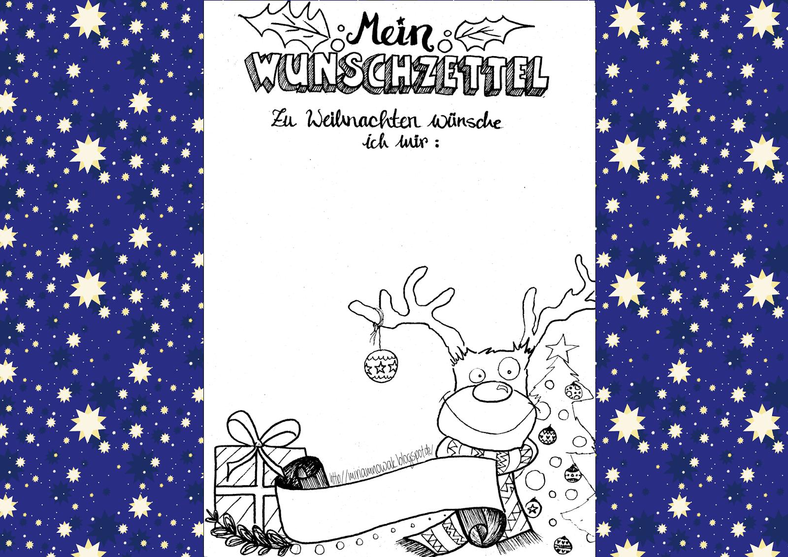 Freebie* Weihnachts-Wunschzettel (Mit Bildern innen Weihnachts Vorlagen