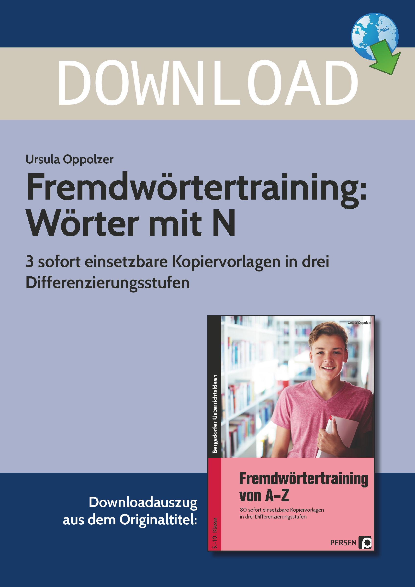 Fremdwörtertraining: Wörter Mit N verwandt mit Wörter Mit N