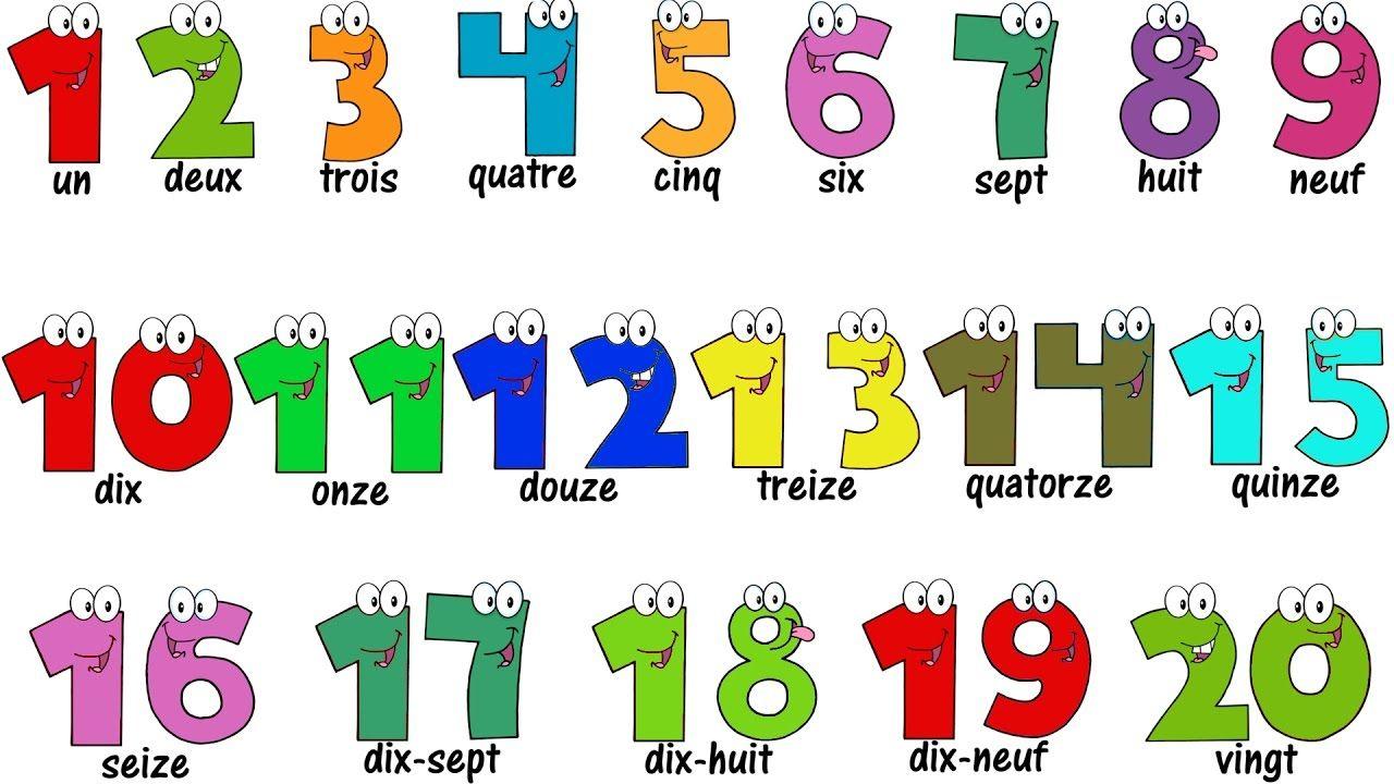 French Lesson - Numbers 1-20 - Compter Jusqu'à 20 - Learn über Französische Zahlen 1 20