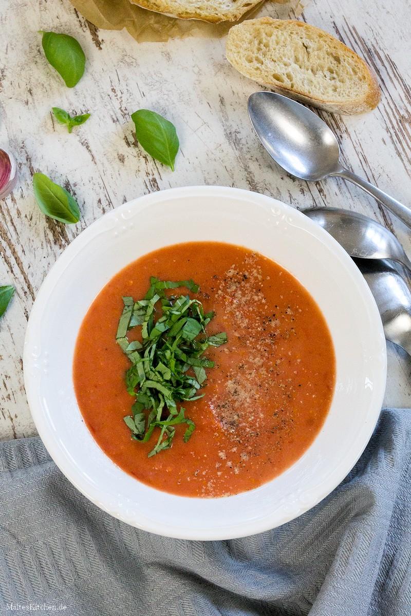 Frische Tomatensuppe {Nach Jamie Oliver} bei Tomatensuppe Selber Machen Mit Frischen Tomaten