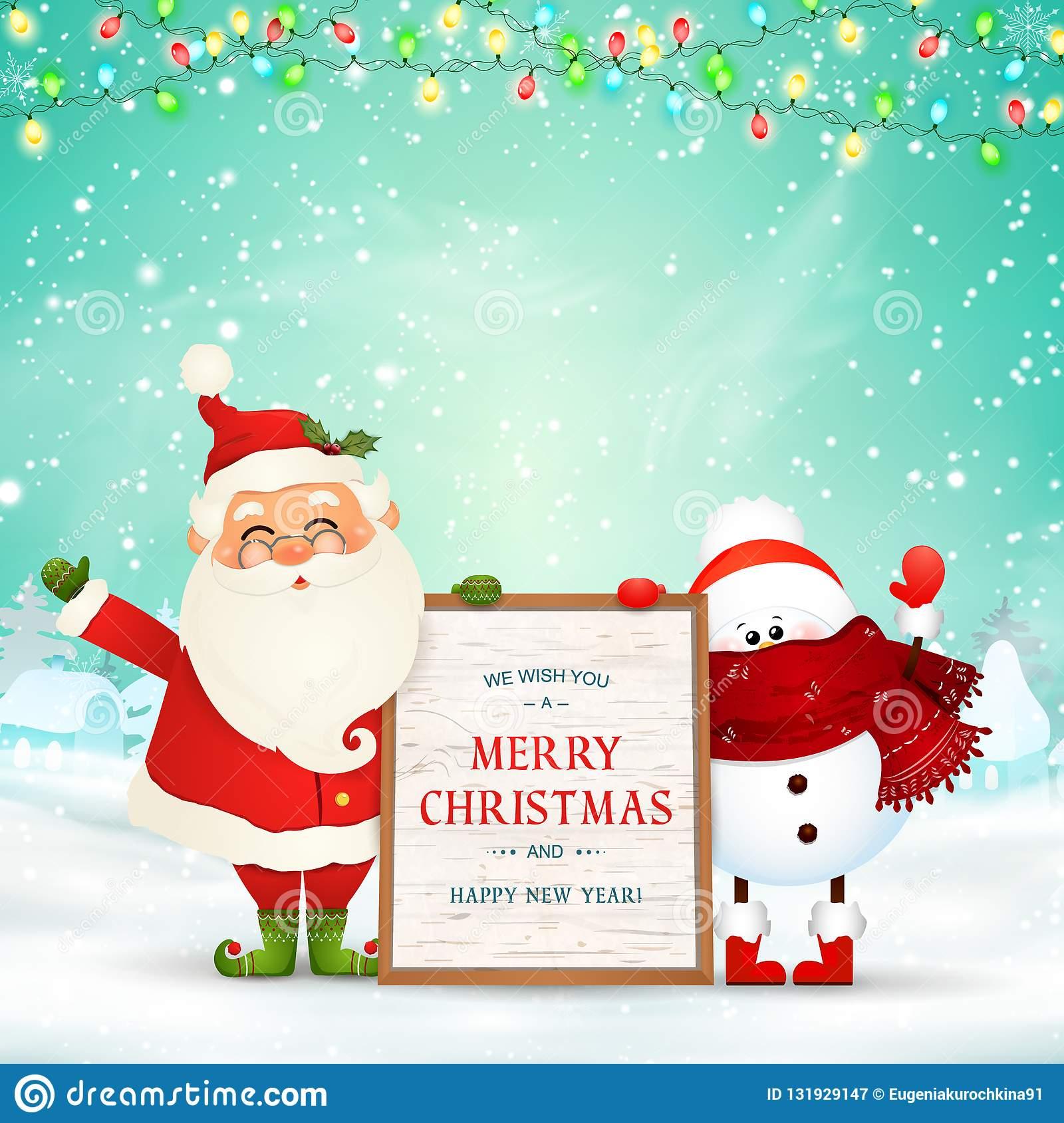 Frohe Weihnachten Glückliches Neues Jahr Lustige Santa Claus verwandt mit Weihnachten Bilder Lustig