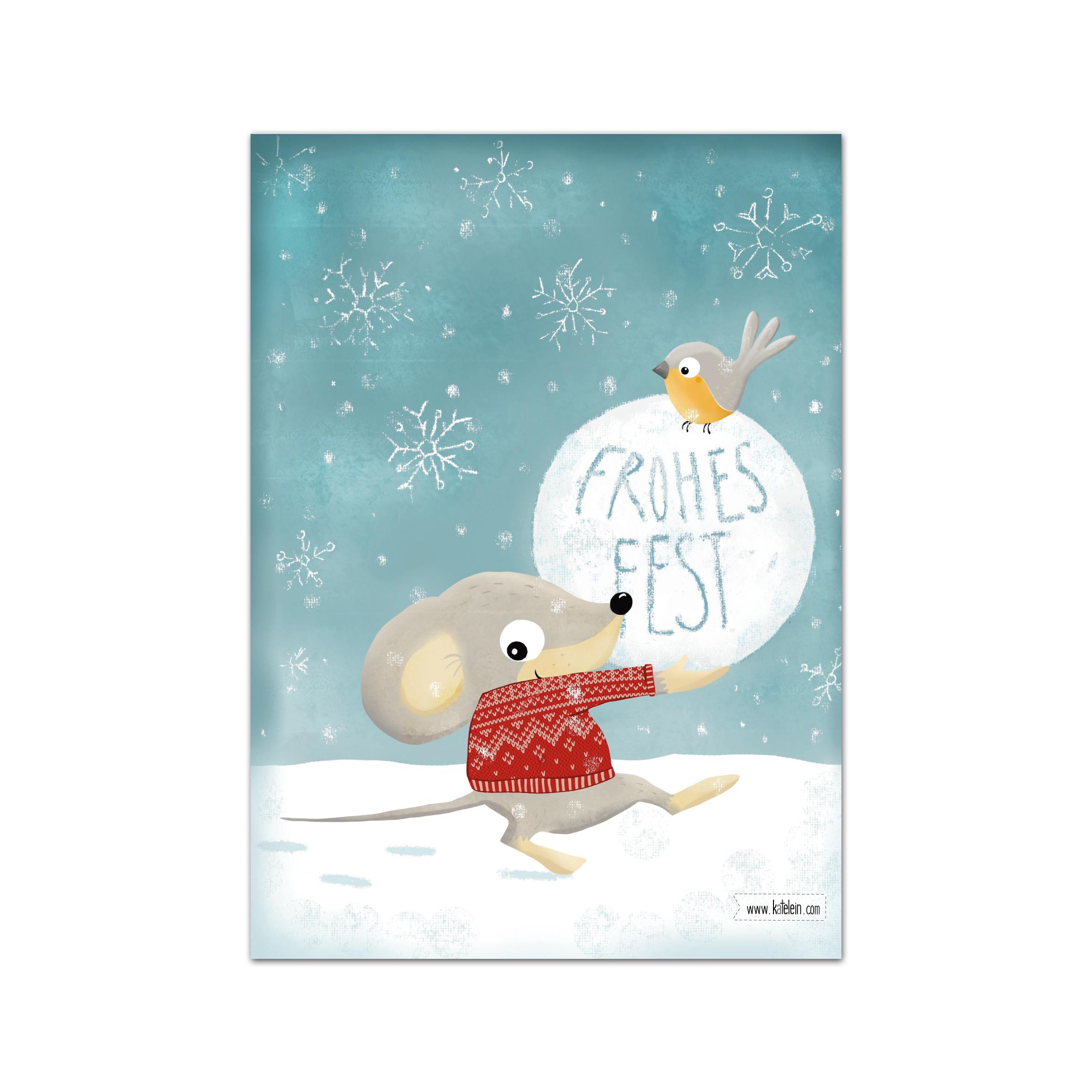 Frohes Fest Weihnachtskarten Im Set Zu 10 Stück innen Weihnachtskarte Für Kinder