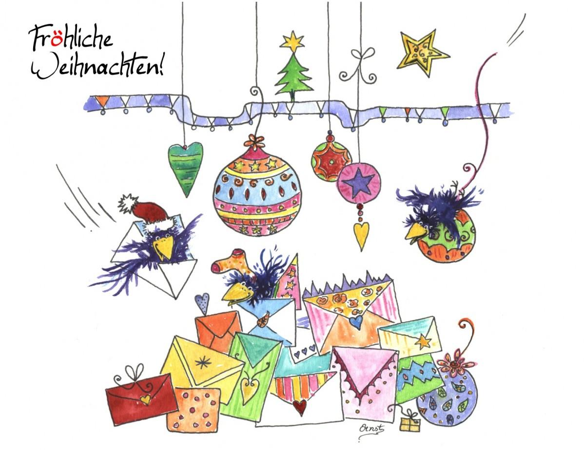 Fröhliche Weihnachtsgrüße: Kostenlose Weihnachtskarten Zum bei Weihnachtsgrüße Zum Ausdrucken