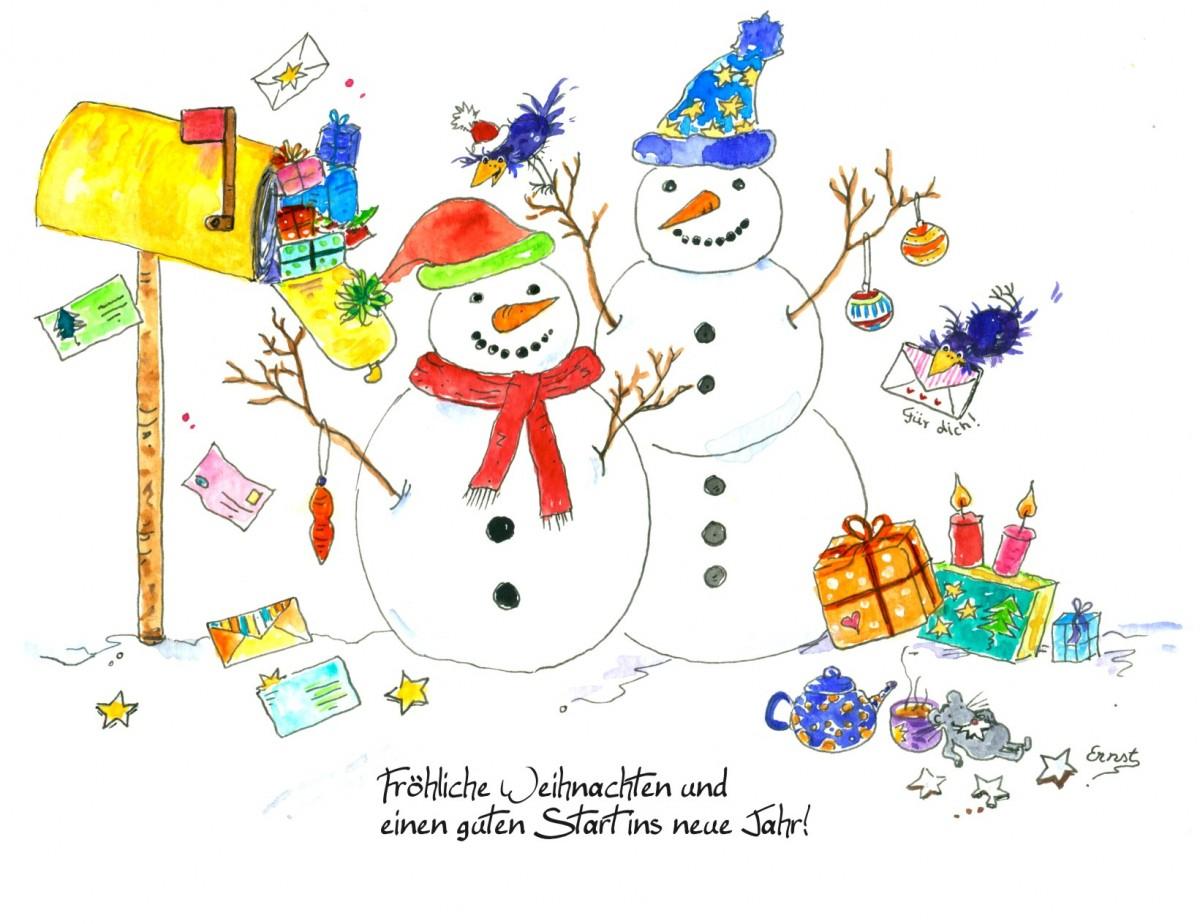 Fröhliche Weihnachtsgrüße: Kostenlose Weihnachtskarten Zum über Grusskarten Weihnachten Kostenlos