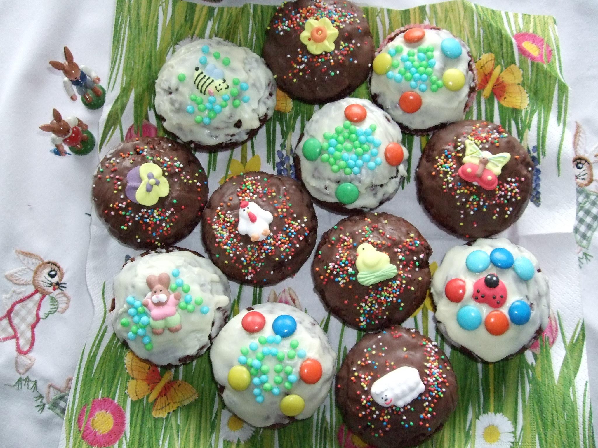 Frühlings-Schoko-Muffins Für Kinder über Muffin Rezept Kindergeburtstag Einfach